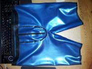 Latex-Radlerhose mit Zip