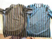 Latex T-Shirt mit Blockstreifen: peppig und frech