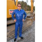Blue Jeans-Variante: Latexhose mit Ziernieten und Druckknopfverschluss