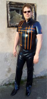 "Latex-Shirt ""Don't ask"""