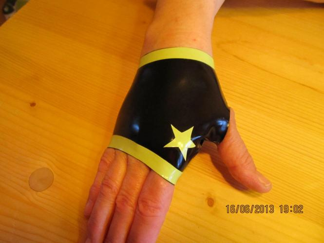 "fingerlose Handschuhe ""Stars"""